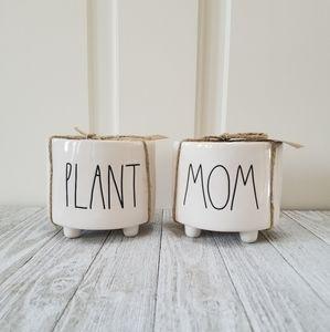 Rae Dunn PLANT MOM Mini Planter Set